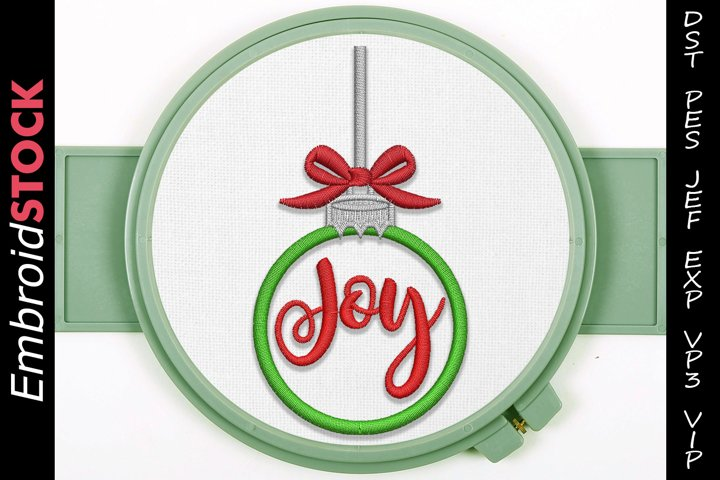 Christmas Joy Ornament Embroidery Design