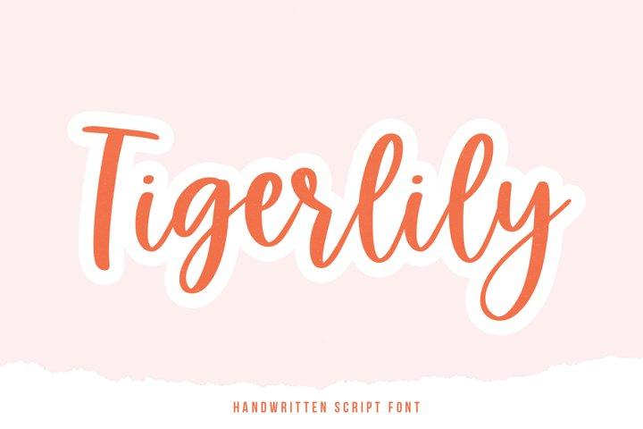 Tigerlily - A Handwritten Script Font