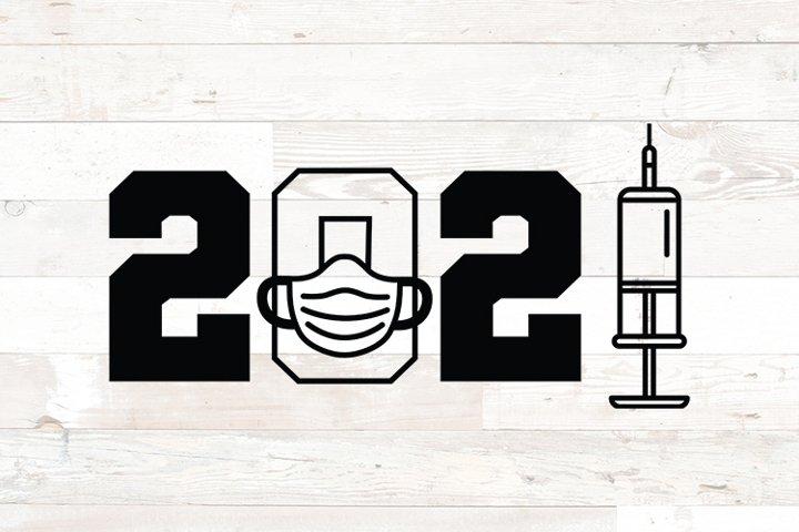 2021 Graduation Mask Syringe Quarantine svg png dfx jpg