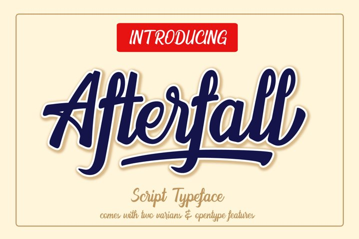 The Afterfall - Extra Rough Font