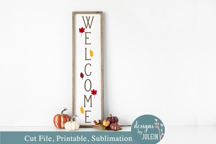 Fall Welcome Porch SVG, Sublimation, Printable, Cricut