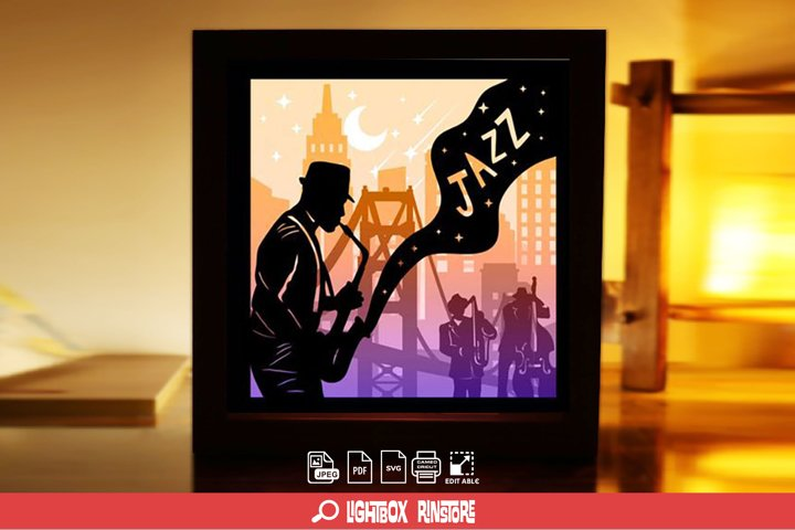 #116 USA Independence Day ,Papercut lightbox 3D Shadow box