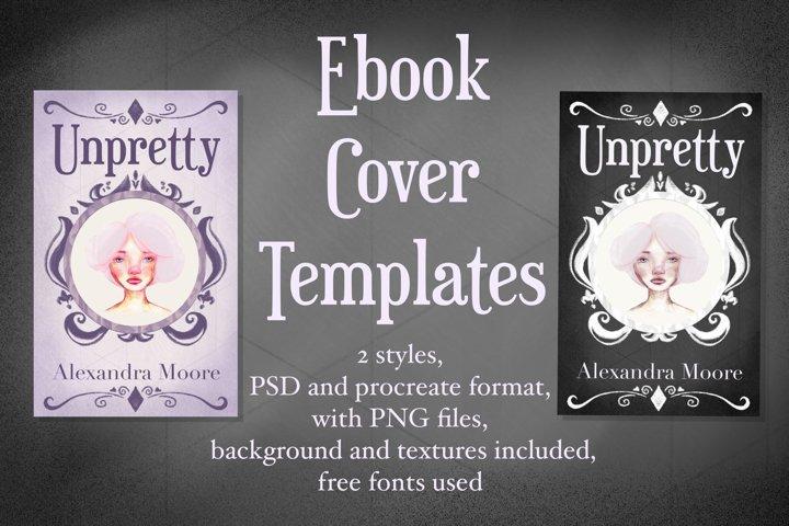 Unpretty - Lilac and Dark Ebook cover template