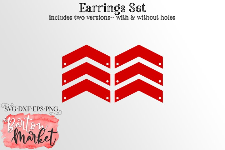 Earrings Set Chevron Lines SVG DXF EPS PNG