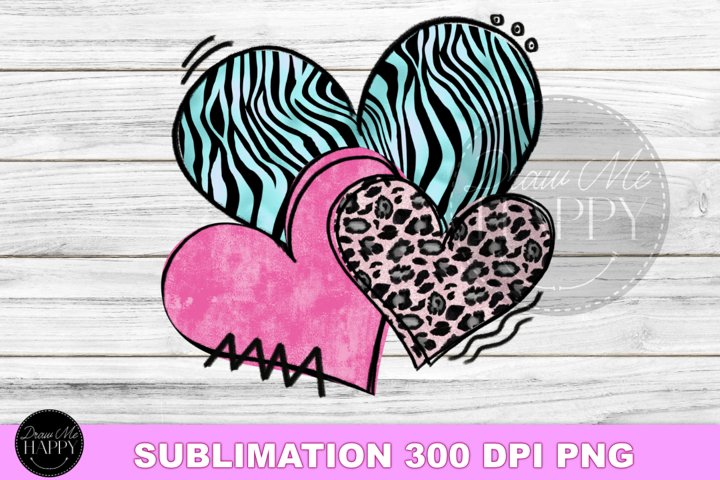 Valentines Day Sublimation, Hearts Sublimation, Hearts PNG