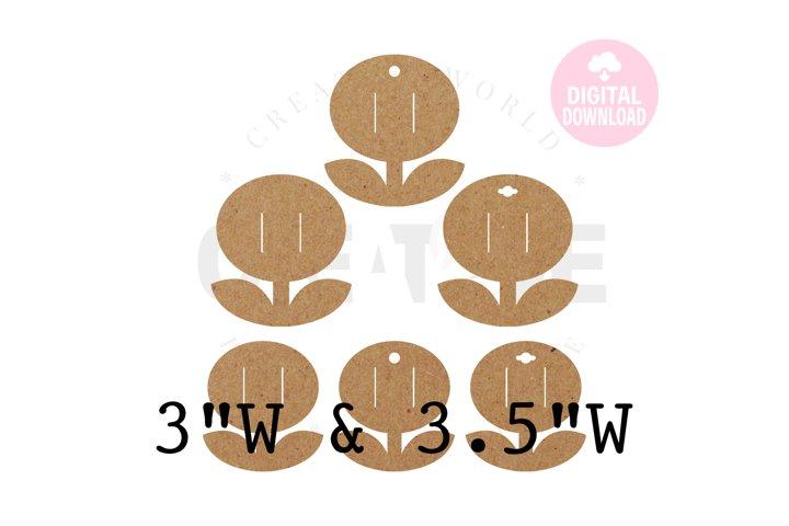 6 Templates Flower Hair Bow Display Card | BDC033