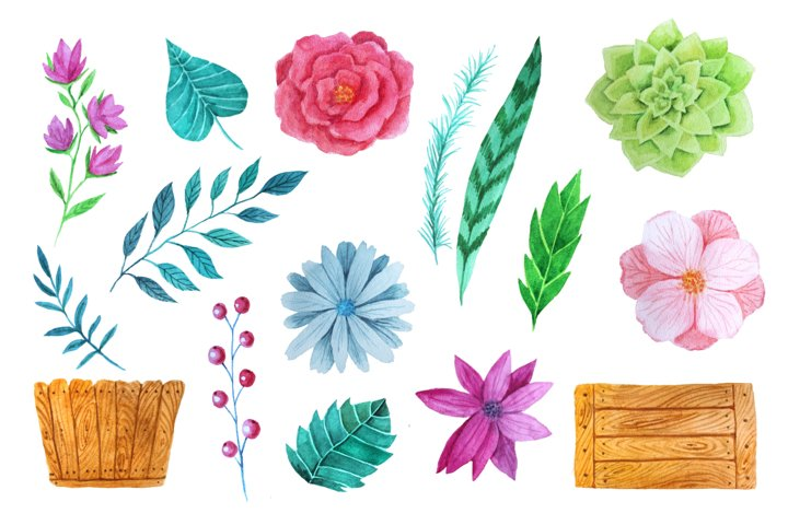 Watercolor Flower Pack example 2