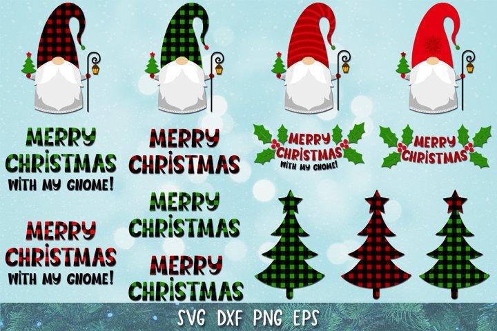 Christmas Gnome SVG,PNG,Plaid Gnomes,Christmas SVG,Tree SVG