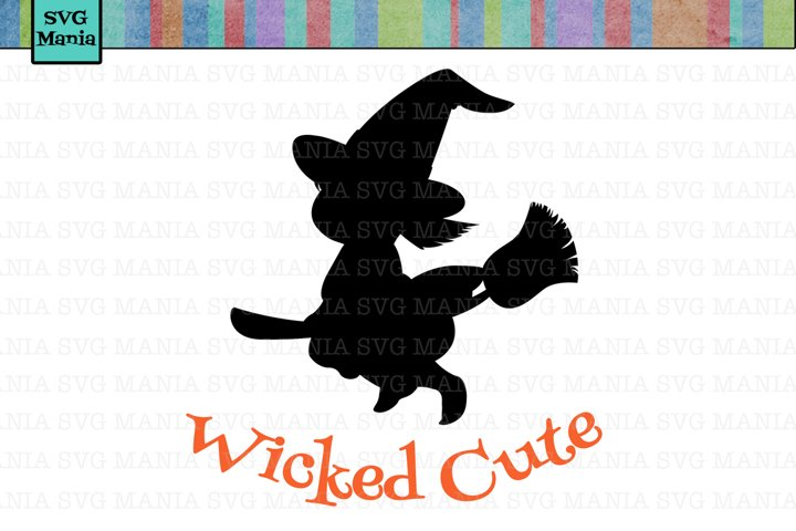 SVG File Wicked Cute Witch, Halloween Baby Bodysuit SVG, SVG