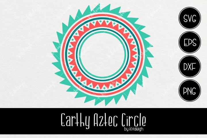 Earthy Aztec Circle