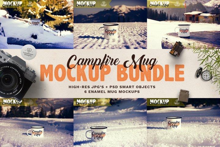 Winter Mug Mockup Set | Christmas Mug Mockup Bundle