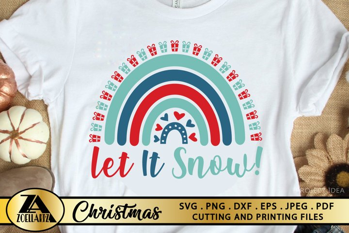 Download Free Svgs Download Let It Snow Svg Christmas Rainbow Svg Christmas Cut Files Free Design Resources