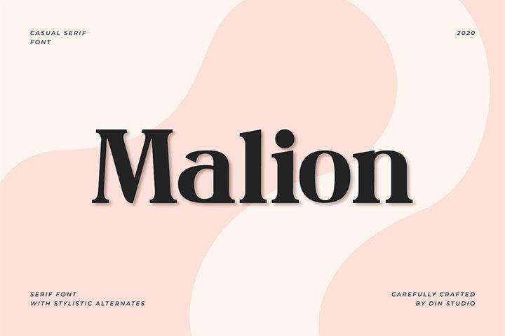 Malion-Modern Serif Font