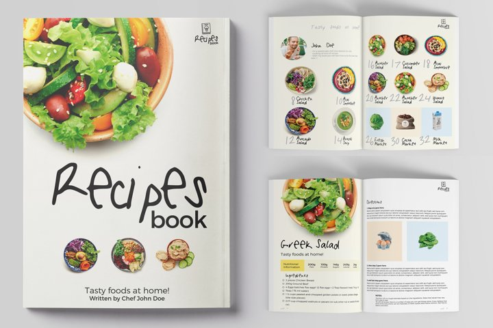Cool Recipes Book Magazine Template