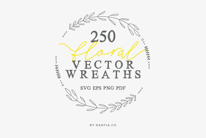 250 Digital Wreaths Vector MEGA Pack