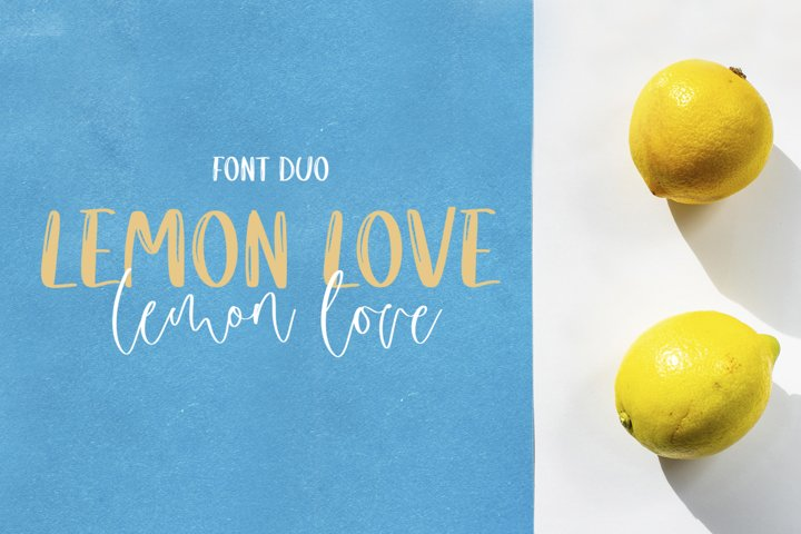 Lemon Love Font Duo