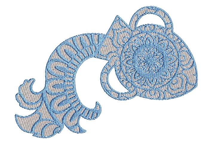 Zodiac Sign Aquarius Embroidery Embroidery Design