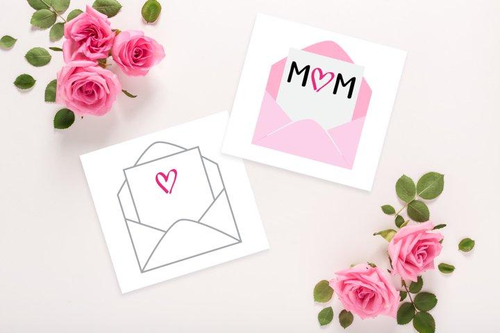 Mom-velope Mothers Day SVG File