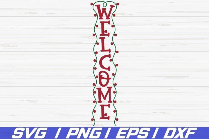 Weclome SVG / Cut File / Christmas Porch Sign SVG