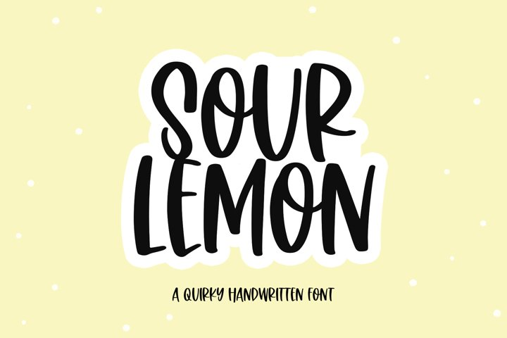 Sour Lemon - A Fun Handwritten Font