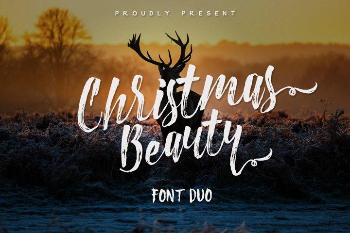 Christmas Beauty Font Duo