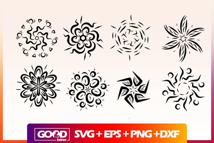 Mandala Bundle SVG DXF PNG SILHOUETTE CUT FILE CRICUT
