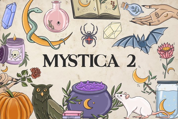 Mystic clipart, Witch clipart, Gothic clipart, Magic clipart