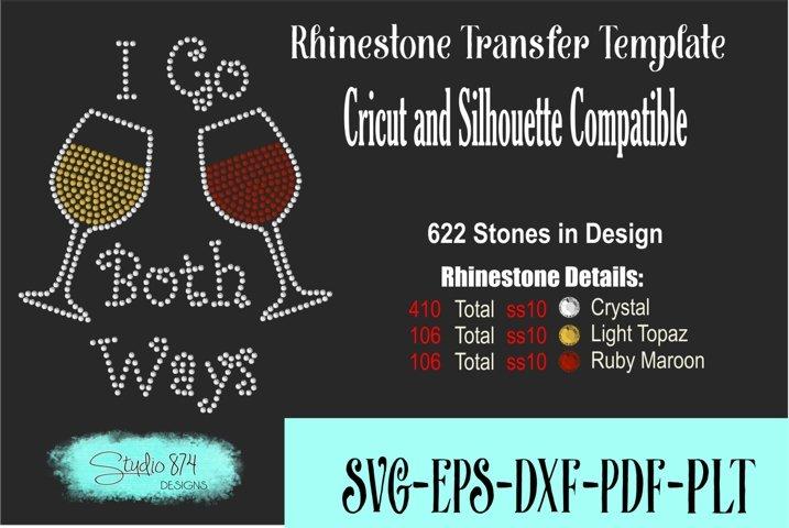 Wine Rhinestone Template Digital Download