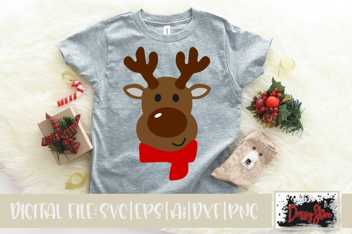 Christmas SVG DXF EPS PNG Reindeer face