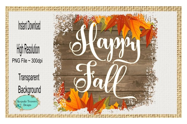 Happy Fall, Sublimation PNG