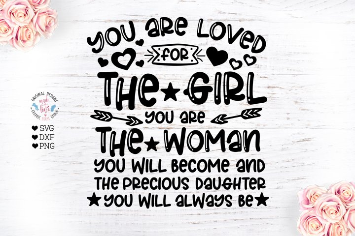 You are Loved for the Girl You are - Nursery Cut File