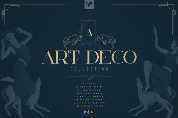 Art Deco Collection - Fonts, Vectors