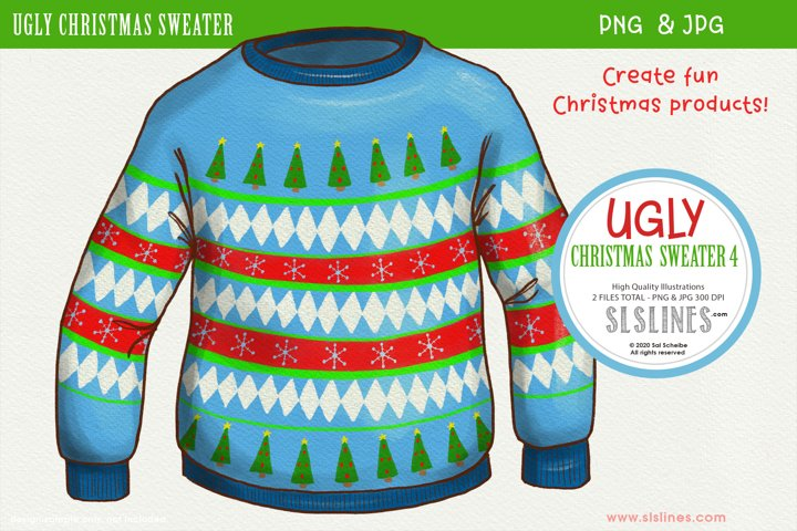 Ugly Christmas Sweater 4 Sublimation PNG