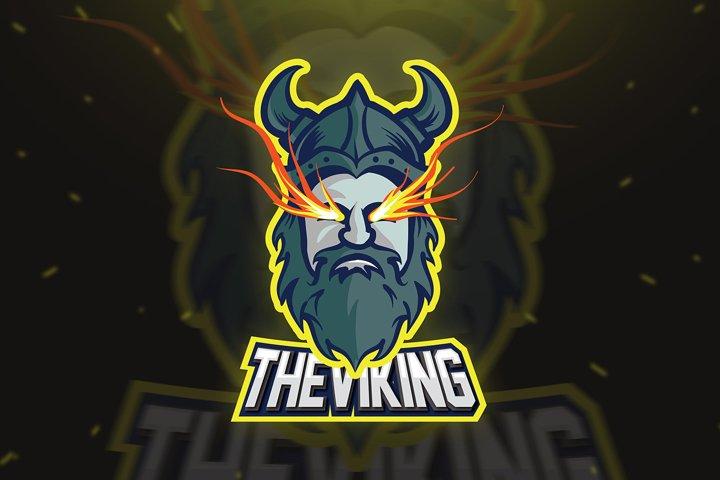 Viking Logo E-sport Mascot