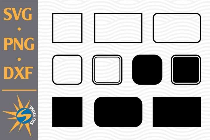 Rectangle Silhouette SVG, PNG, DXF Digital Files Include
