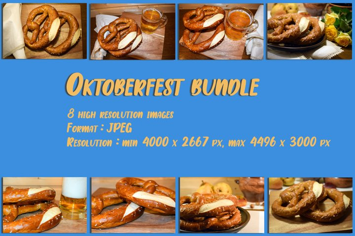 Set of 8 images. Symbolic for Oktoberfest celebration.