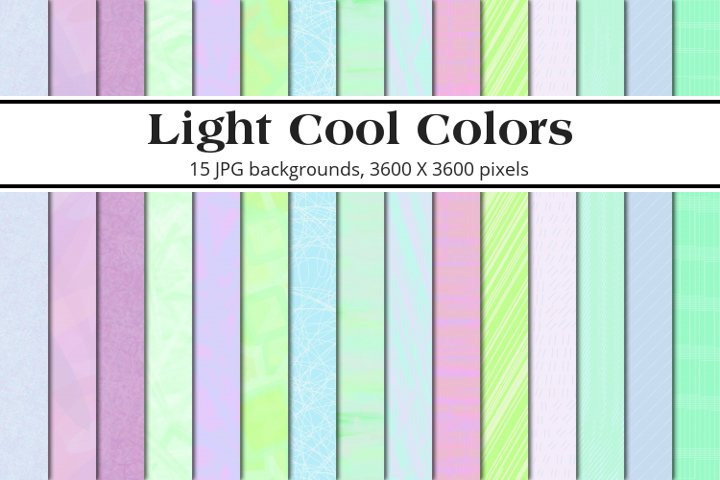 Light Cool Colors Background Pack