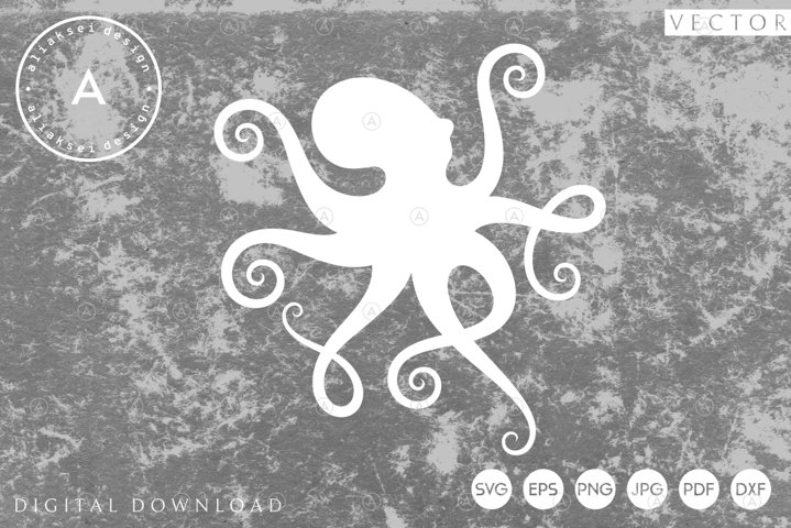 Octopus Paper Cut | Abstract Animal Svg, Eps, Dxf, Pdf, Png