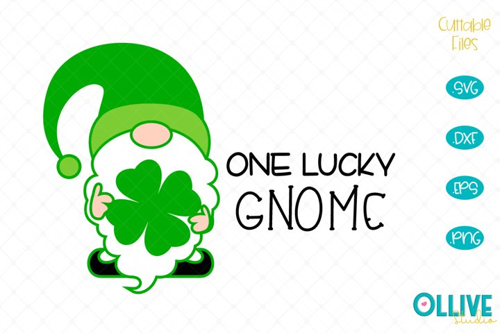 One Lucky Gnome St. Patricks Day SVG