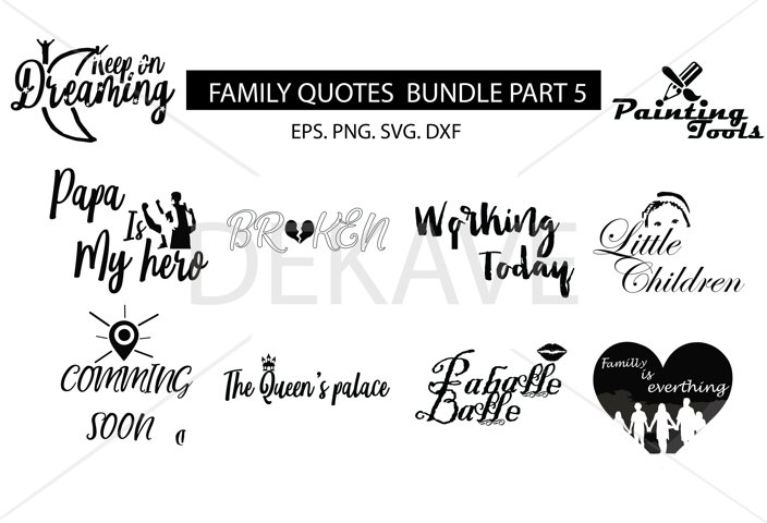 SVG Family set , cutting files