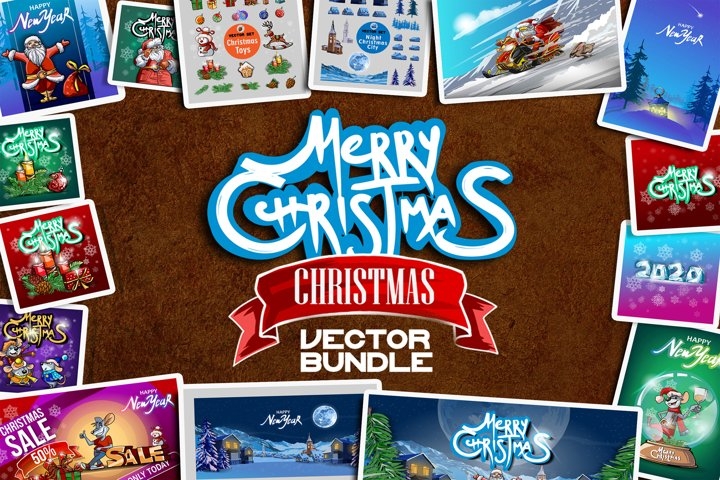CHRISTMAS BUNDLE CARTOON VECTOR