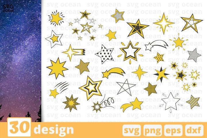 30 STARS SVG BUNDLE | Stars svg | Space svg | Shooting stars
