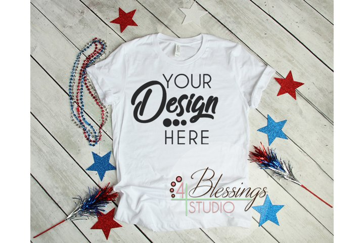 4th of July Mockup Bella Canvas 3001 Mock-up Unisex T Shirt