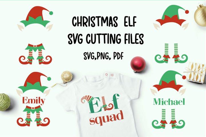 Christmas elf svg cutting files