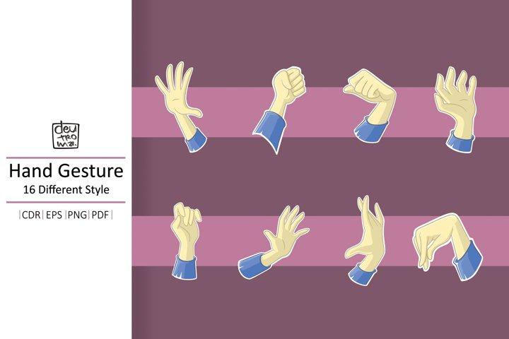 Cartoon Hand Gesture Vector - EPS CDR PDF PNG