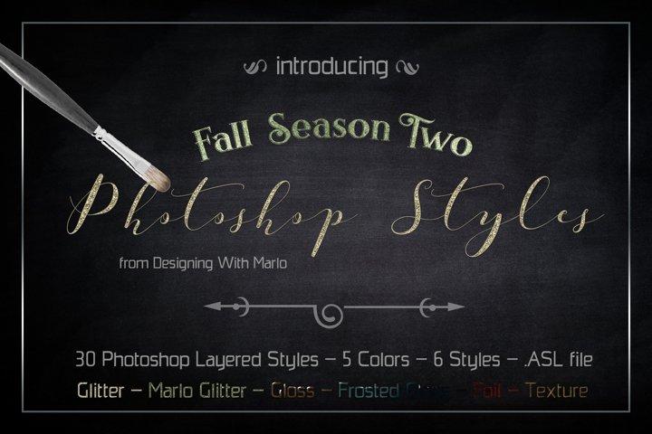 Fall Season Two - Layered Photoshop Styles