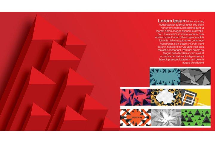 Set bundle abstract vector background vol 1