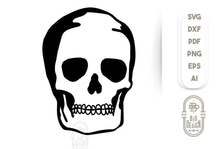 Skull SVG File - Cranium SVG File - Skeleton Illustration