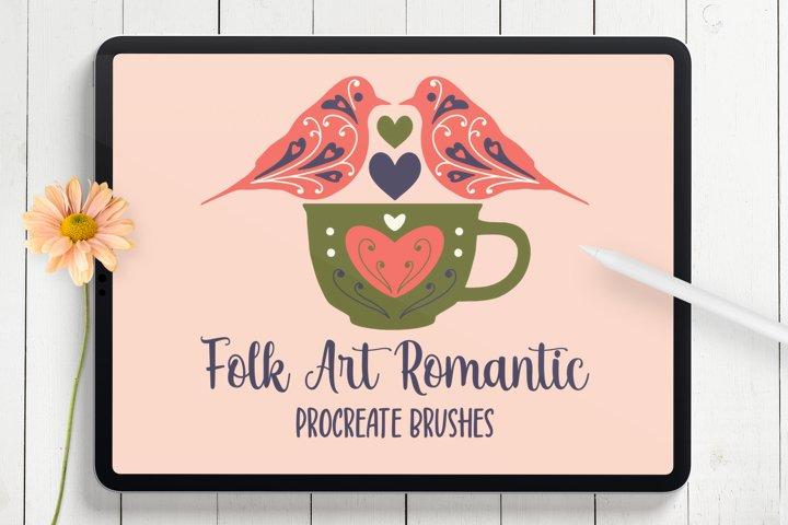 Modern Folk Art Romantic Procreate Stamp Brushes