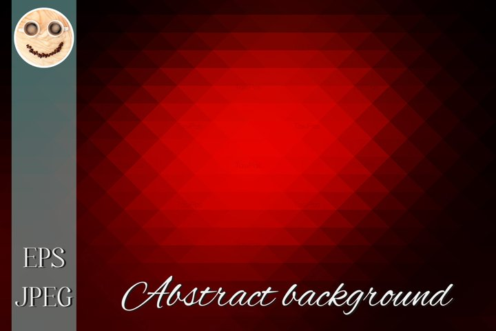 Red brown black rows of triangles background
